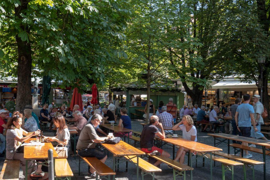 Viktualienmarkt Munich Beer Garden