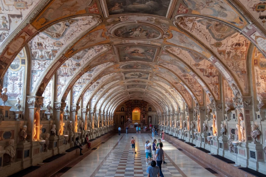 Antiquarium at the Residenz Palace. Munich