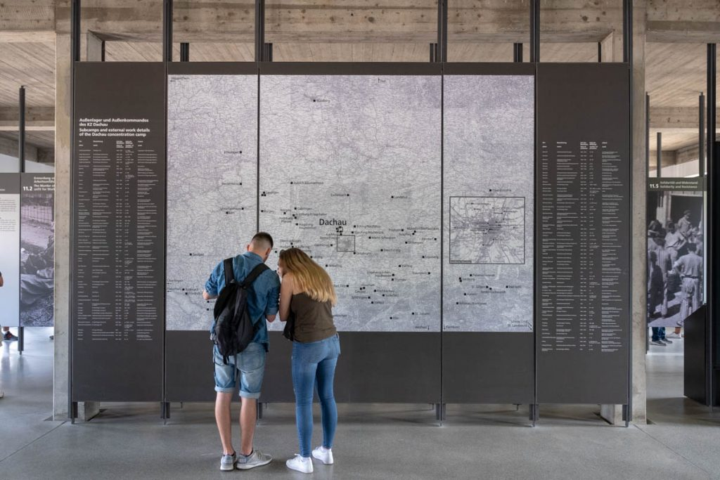 Map of camps at Dachau Museum