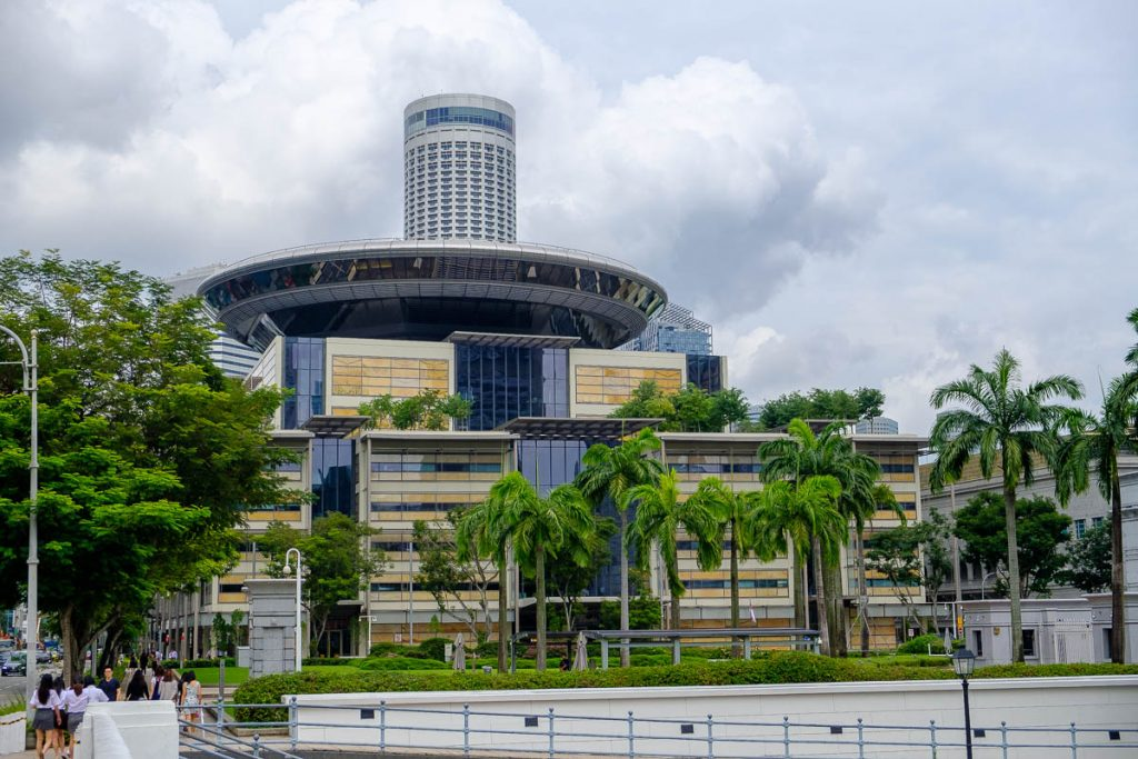 Photo of the new Singapore Supreme Court building.
