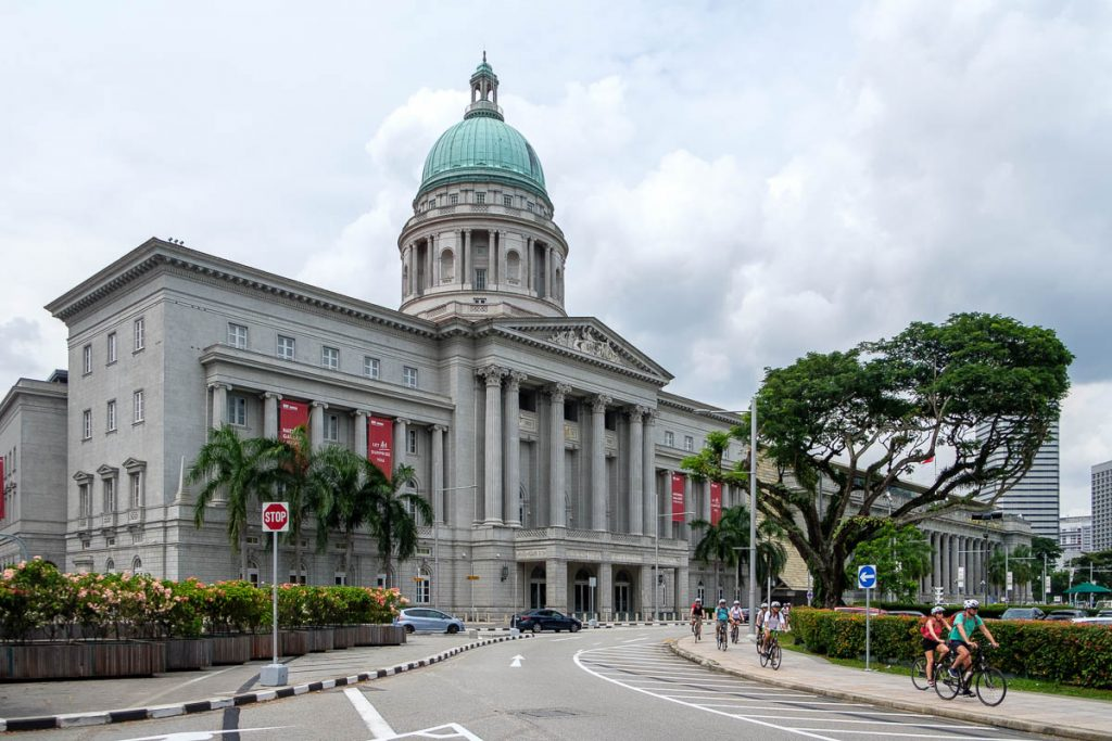 Outside view of the Singapore National Gallery.