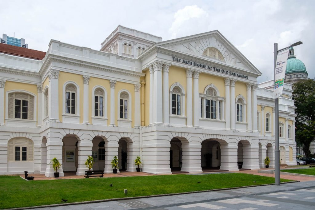 Photo of the Old Parliament building in Singapore. Now called The Arts House At The Old Parliament.