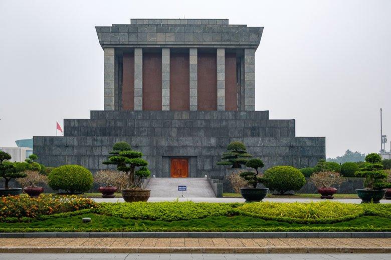 Back of Ho Chi Minh Mausoleum